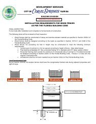 Fence Requirements / Landscaping Affidavit - City of Coral Springs