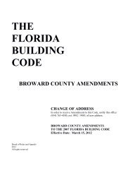 THE FLORIDA BUILDING CODE - City of Coral Springs