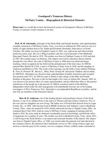 Goodspeed of McNairy County - McNairy, Life & Times of McNairy ...