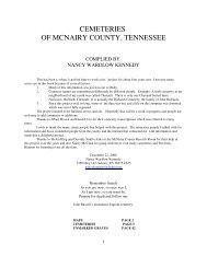 cemeteries of mcnairy countyaa - McNairy, Life & Times of McNairy ...