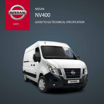 NISSAN GOOD TO GO TecHNIcAl SpecIFIcATION