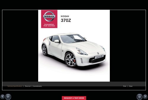 NISSAN 370Z ROADSTER Request a Test Drive - S G Petch