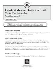 Contrat de courtage exclusif – Vente d'un immeuble - oaciq