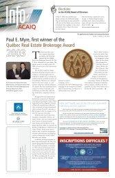 Info ACAIQ Newsletter 06-2003 - oaciq