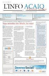 Journal L'Info ACAIQ 06-2010 - oaciq