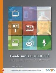 Guide sur la PUBLICITÉ - oaciq