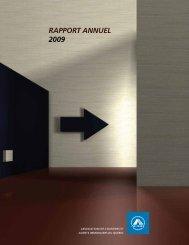 RAPPORT ANNUEL 2009 - oaciq