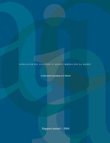 Rapport annuel 2004 - oaciq