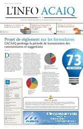 Journal L'Info ACAIQ 11-2009 - oaciq
