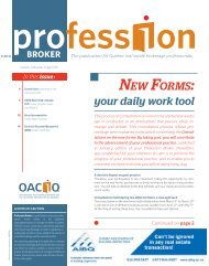 Profession Broker 04-2011 - oaciq