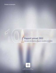 Rapport annuel 2003 - oaciq