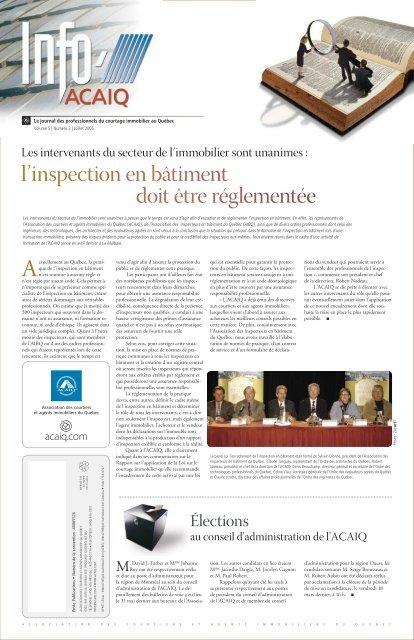 Journal L'Info ACAIQ 07-2005 - oaciq