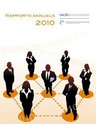 Rapport annuel 2010 - oaciq