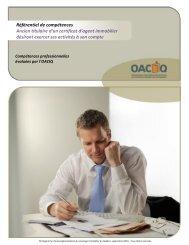 Référentiel de compétences Ancien titulaire d'un certificat d ... - oaciq