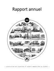 Rapport annuel 1997 - oaciq
