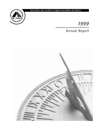 Annual Report 1999 - oaciq