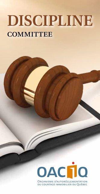 Booklet: Discipline committee - oaciq