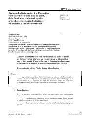 Réunion des États parties à la Convention sur l'interdiction de la ...