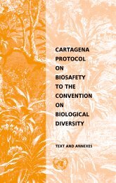 Cartagena Protocol on Biosafety - Convention on Biological