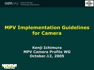 MPV Implementation Guidelines for Camera