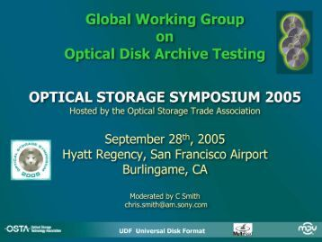 Global Working Group on Optical Disk Archive Testing OPTICAL ...