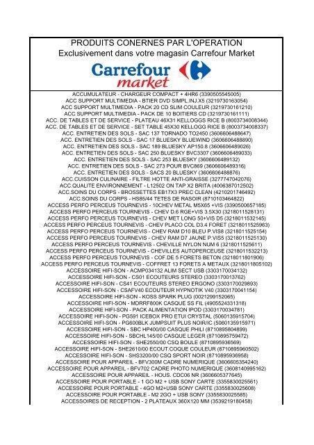 Produits Conernes Par L Operation Carrefour