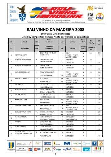 RALI VINHO DA MADEIRA 2008 - ERC