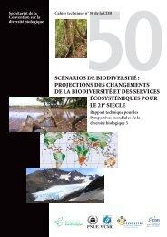 SCÉNARIOS DE BIODIVERSITÉ - Convention on Biological Diversity