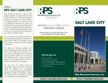 RPS Salt Lake City - Office Brochure - Risk Placement Services, Inc.