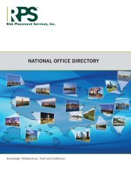 RPS National Office Directory - Risk Placement Services, Inc.