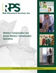 Workers Compensation Specialists - Risk Placement Services, Inc.