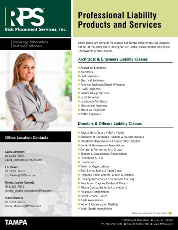 Professional Liability Products and Services