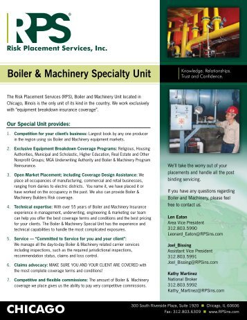 RPS Chicago - Boiler and Machinery - Risk Placement Services, Inc.