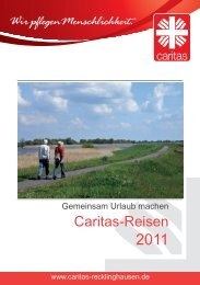 Caritas-Reisen 2011 - Caritasverband für die Stadt Recklinghausen ...