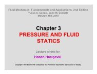 Chapter 3 PRESSURE AND FLUID STATICS - Department of ...
