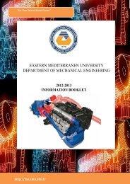 eastern mediterranen university department of mechanical