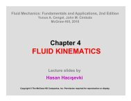 FLUID KINEMATICS - Department of Mechanical Engineering
