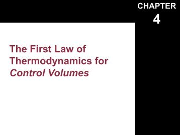 Chapter-4 1 st Law Open Systems