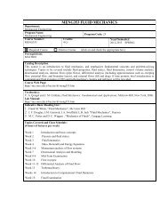 Course Outline - Department of Mechanical Engineering