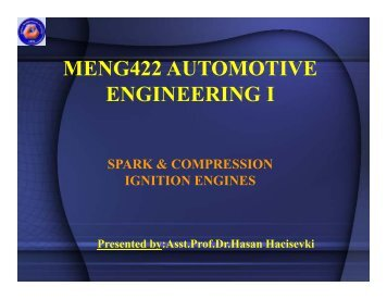 Spark & Compression Ignition Engines