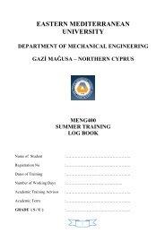 ME 375 MACHINE ELEMENTS I - Department of Mechanical ...