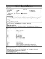 MENG231 – Engineering Mechanics - Department of Mechanical ...