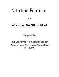 MLA Citation Protocol - California High School Speech Association