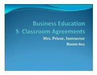 Bus Ed 5 Classroom Agreements - Rockwood School District