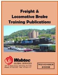 Freight & Locomotive Brake Training Publications - Wabtec ...