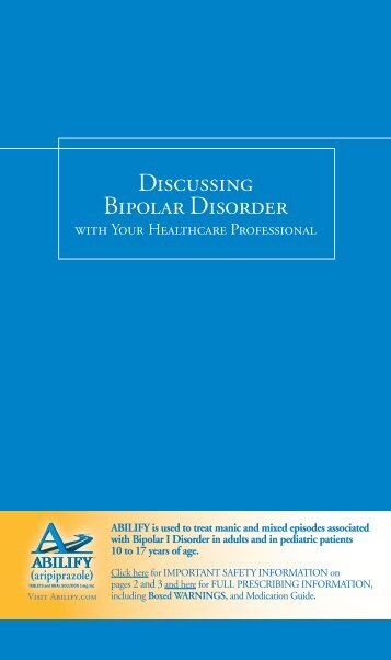 Discussing Bipolar Disorder - Abilify