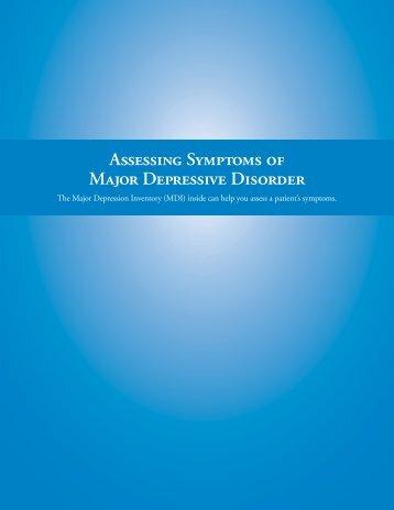 Assessing Symptoms of Major Depressive Disorder - Abilify