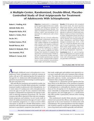 A Multiple-Center, Randomized, Double-Blind, Placebo ... - Abilify