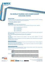 fia world touring car championship yokohama trophy - WTCC