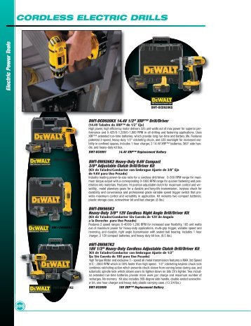 CORDLESS ELECTRIC DRILLS